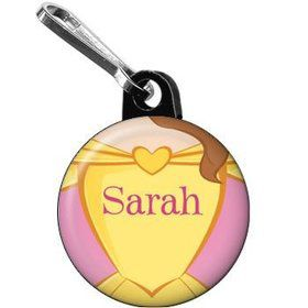 Princess & Beast Personalized Mini Zipper Pull (each)