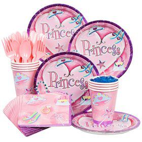 Princess Birthday Party Standard Tableware Kit Serves 8