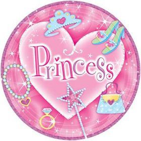 Princess Cake Plates (8-pack)
