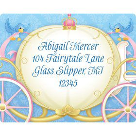 Princess Coach Personalized Address Label (Sheet of 15)