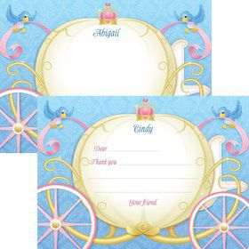 Princess Coach Personalized Thank You Note