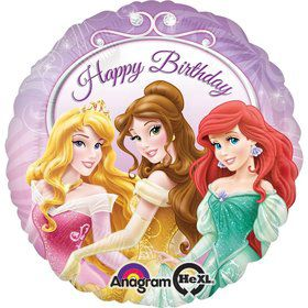 "Princess Happy Birthday 17"" Foil Balloon (Each)"