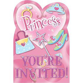 Princess Invitations ( 8 pack)