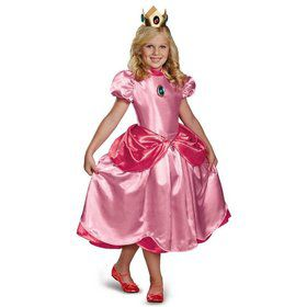 Princess Peach Girls Deluxe Super Mario Costume