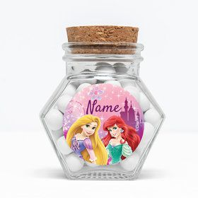 "Princess Personalized 3"" Glass Hexagon Jars (Set of 12)"