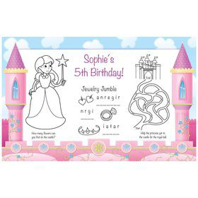 Princess Personalized Activity Mats (8-pack)