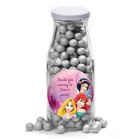 Princess Personalized Glass Milk Bottles (10 Count)