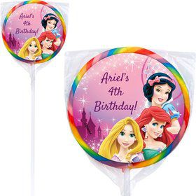 Princess Personalized Lollipops (12 Pack)