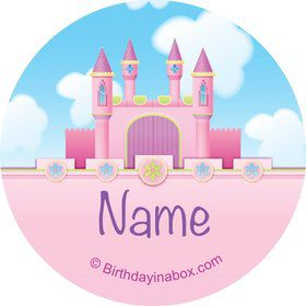 Princess Personalized Mini Stickers (Sheet of 20)