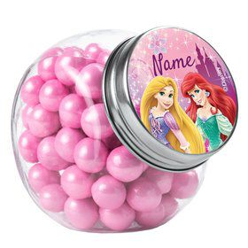 Princess Personalized Plain Glass Jars (10 Count)