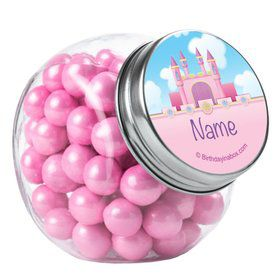 Princess Personalized Plain Glass Jars (12 Count)