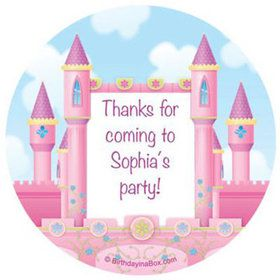 Princess Personalized Stickers (sheet of 12)