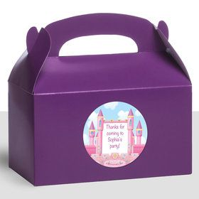 Princess Personalized Treat Favor Boxes (12 Count)