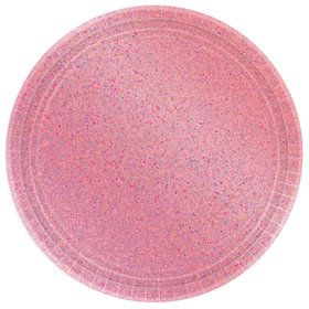Prismatic Pink Lunch Plates (8)