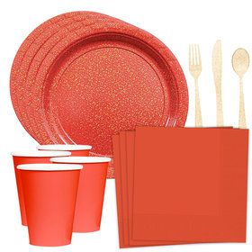Prismatic Red Standard Tableware Kit (Serves 16)