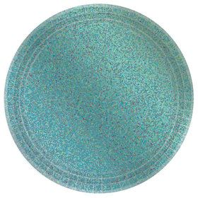 Prismatic Robin's Egg Blue Lunch Plates (8)