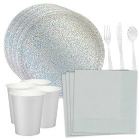 Prismatic Silver Standard Tableware Kit (Serves 16)