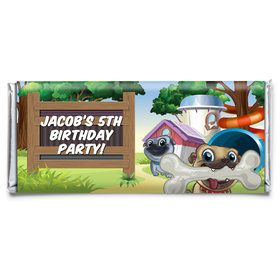 Pug Pals Personalized Candy Bar Wrapper (Each)