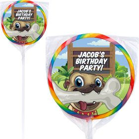 Pug Pals Personalized Lollipops (12 Pack)