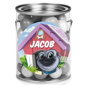 Pug Pals Personalized Mini Paint Cans (12 Count)
