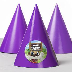 Pug Pals Personalized Party Hats (8 Count)