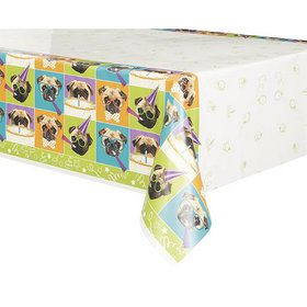Pug Puppy Birthday Tablecover (1)