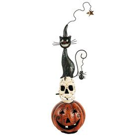 Pumpkin/Skull/Cat Metal Decoration