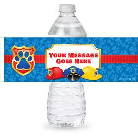 Pup Command Personalized Bottle Label (Sheet of 4)