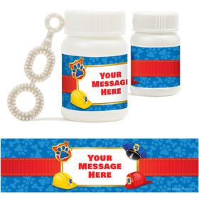 Pup Command Personalized Bubbles (18 Pack)