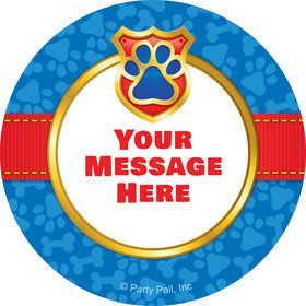 Pup Command Personalized Mini Stickers (Sheet of 20)