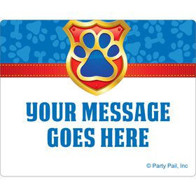 Pup Command Personalized Rectangular Stickers (Sheet of 15)