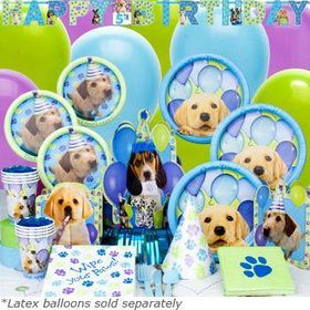 Puppy Birthday Party Ultimate Tableware Birthday Kit Serves 8