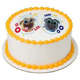 "Puppy Dog Pals 7.5"" Round Edible Cake Topper (Each)"