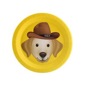 Puppy Dog Paw-ty Yellow Lab Dessert Plate (8)