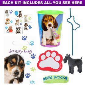 Puppy Party Deluxe Favor Kit (for 1 Guest)