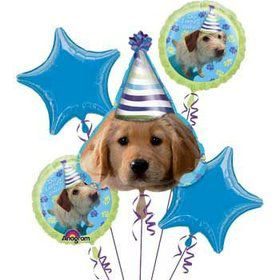 Puppy Party Mylar Balloon Bouquet (each)