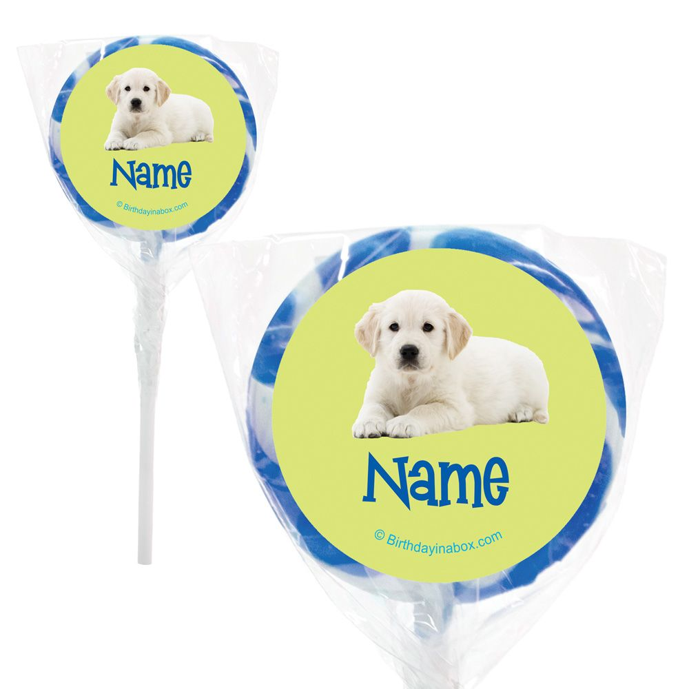"""Puppy Party Personalized 2"""" Lollipops (20 Pack) BB005825PPS"""
