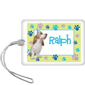 Puppy Party Personalized Bag Tag (each)