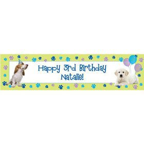 Puppy Party Personalized Banner (each)