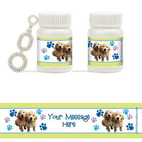 Puppy Party Personalized Bubbles (18 Pack)