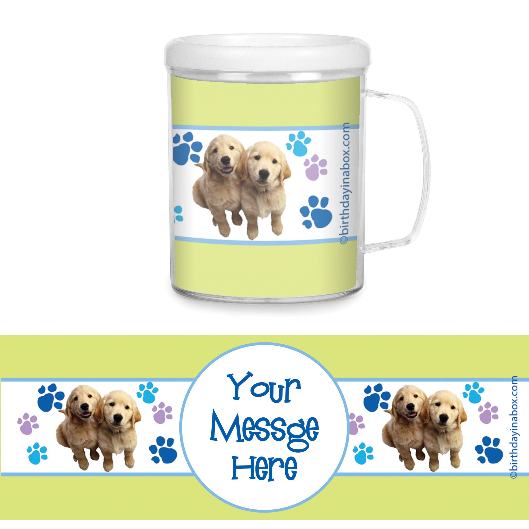 Puppy Party Supplies Personalized Favor Mugs (Each) BB005825CUP