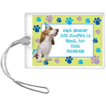 Puppy Party Supplies Personalized Luggage Tag (each) BB009499
