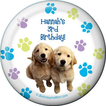 Puppy Party Supplies Personalized Magnet (each) BB005826