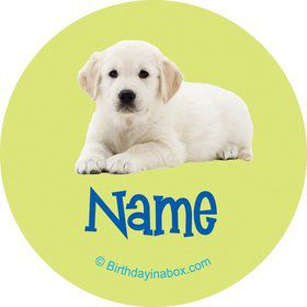 Puppy Party Personalized Mini Stickers (Sheet of 20)