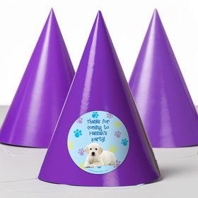 Puppy Party Personalized Party Hats (8 Count)