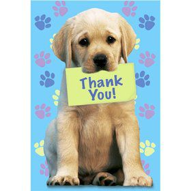 Puppy Party Thank You Notes (8-pack)