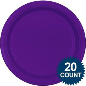 "Purple 10"" Paper Dinner Plates (20 Pack)"