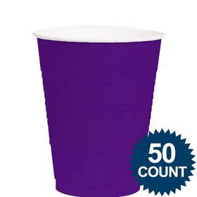 Purple 12Oz. Plastic Cup (50 Pack)