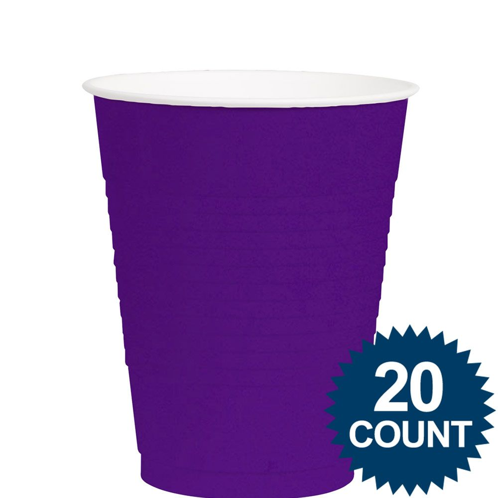 Purple 12Oz. Plastic Cups (20 Pack) - Party Supplies BB43036106