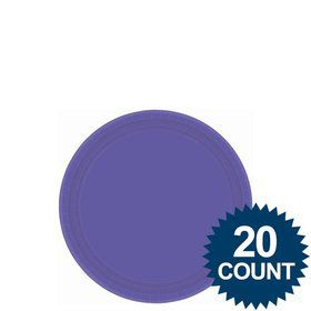 "Purple 7"" Paper Cake Plates (20 Pack)"